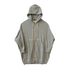 X Oversized Zip Hoodie