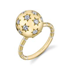 Ethel White Diamond Star Ring