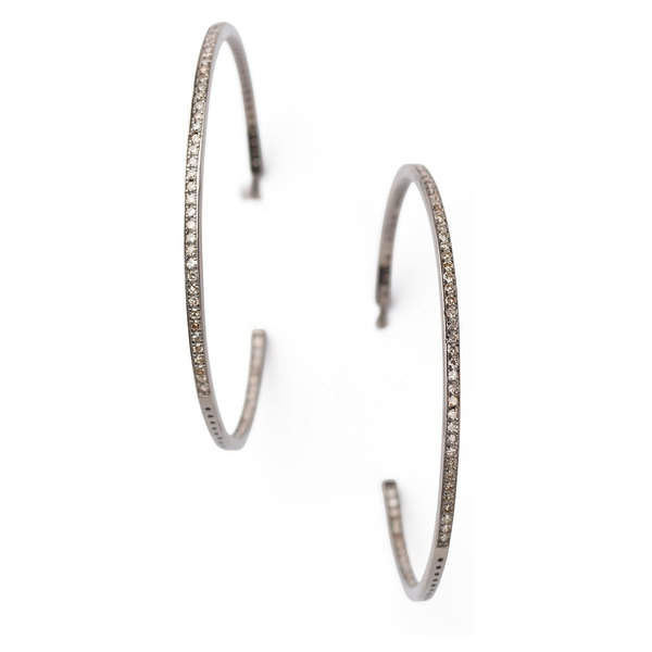 Sheryl Lowe Diamond Hoops