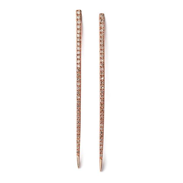 Sheryl Lowe Long Bar Diamond Earrings