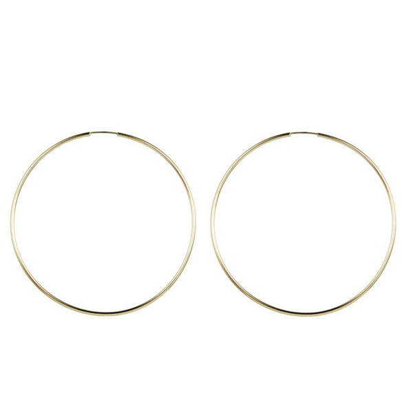 Loren Stewart Ultra-Light 14k Gold Hoops