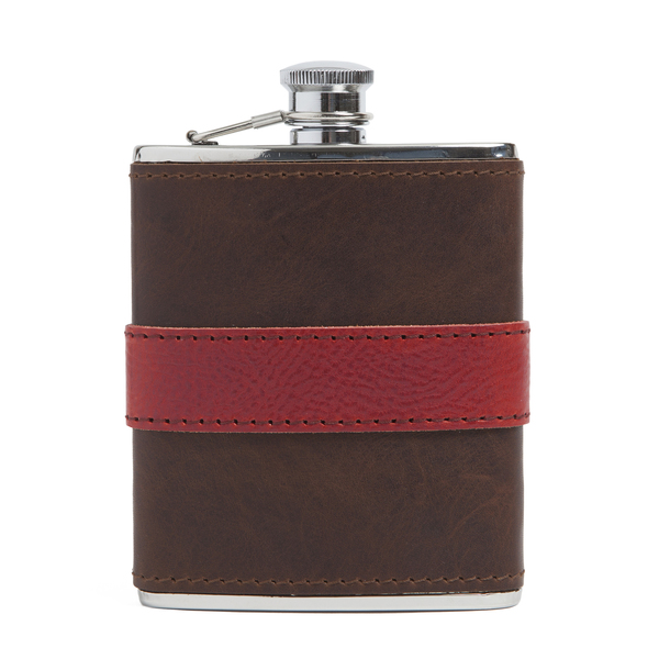Moore & Giles Leather-Wrapped Flask
