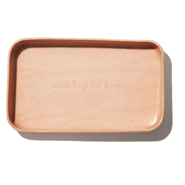 """Billykirk """"Can't Buy Me Love"""" Embossed Leather Valet Tray"""