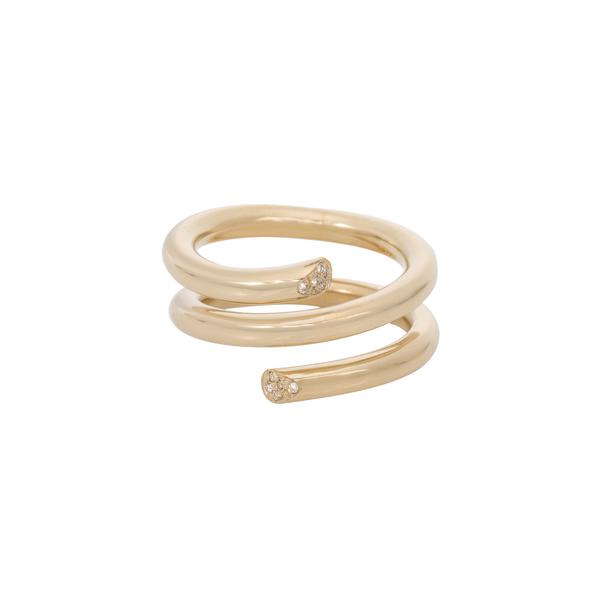 Ariel Gordon Pavé Spring Ring