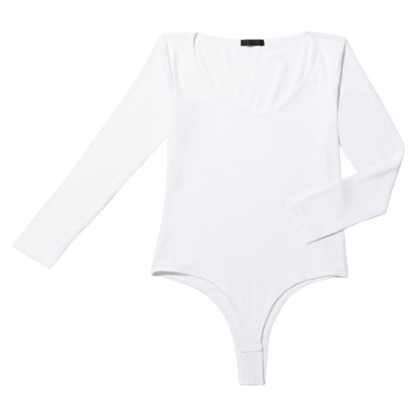 ATM Anthony Thomas Melillo 3/4-Sleeve Ballet-Neck Bodysuit