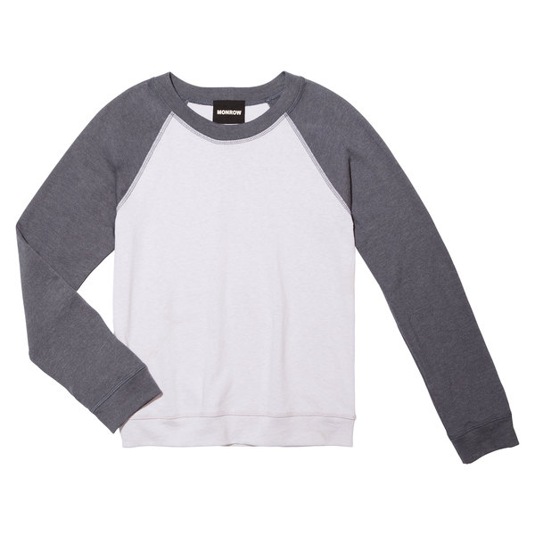 Monrow Two-Tone Raglan Sweatshirt