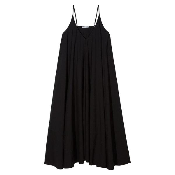 T by Alexander Wang Washed cotton-poplin sleeveless trapeze dress