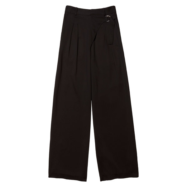 T by Alexander Wang silk crêpe wide-leg trouser