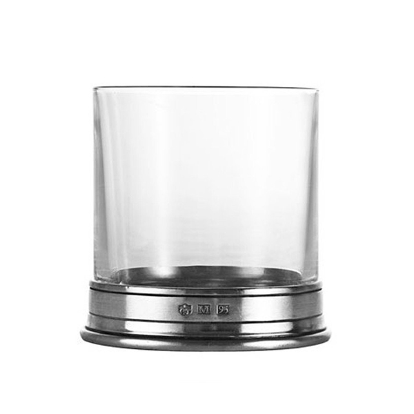 MATCH Pewter Crystal Double Old Fashion Glass