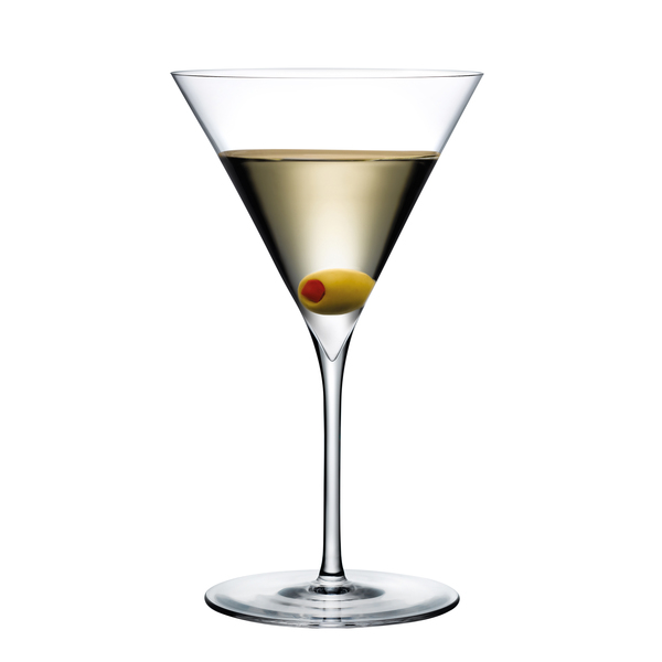 Nude Glass  Dimple Martini Set of 2