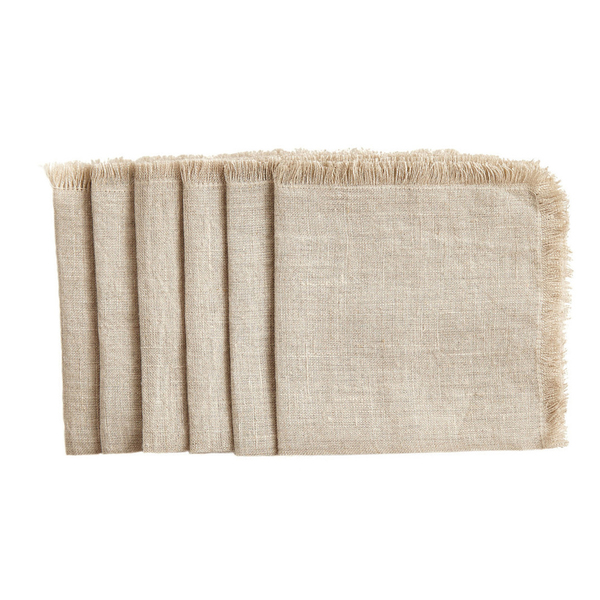 Sir Madam  Natural Cocktail Napkins set of 6