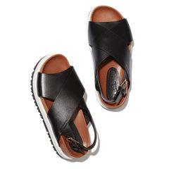 Black Crisscross Sandal