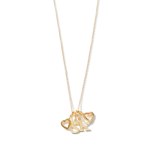 Sarah Chloe Love Count Multi Heart Necklace