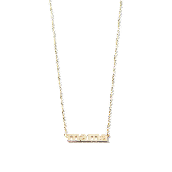 "Jennifer Meyer ""Mama"" Necklace"