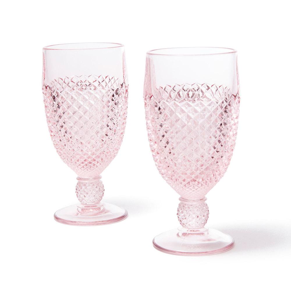 Mosser Glass Pink Glass Goblet Set Of 2 Goop