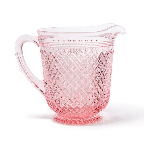 MOSSER GLASS Pink Glass Pitcher