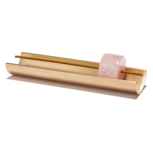 Cinnamon Projects Rose Quartz Burner + Incense Set