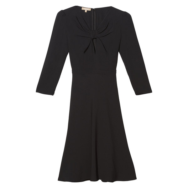 Michael Kors Collection Tie Front Belted Dress