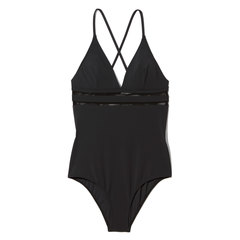 Swimsuit with Mesh Detail