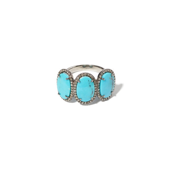 Sheryl Lowe Mexican Turquoise Past Present Future Ring