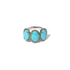 Mexican Turquoise Past Present Future Ring