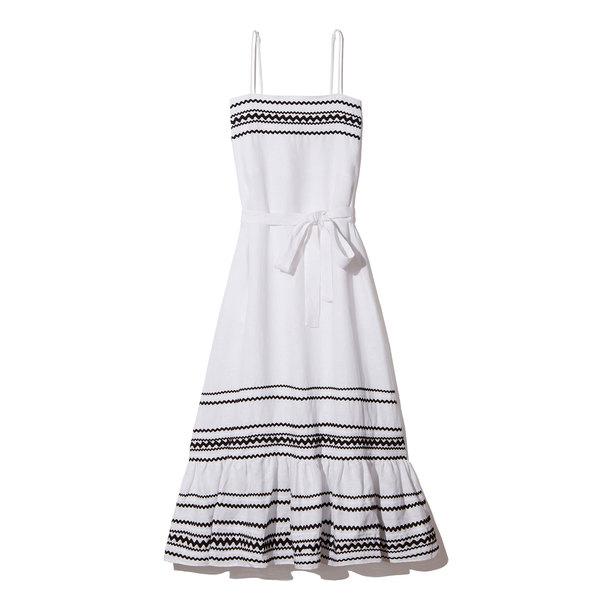 Lisa Marie Fernandez Linen Slip Dress