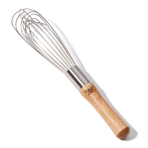 "Best Whips 10"" Wooden Handle French Whisk"