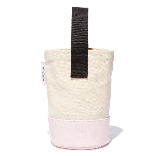 Rue de Verneuil Romy's White Canvas Bucket Bag