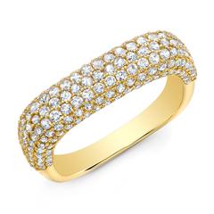 Luxe Diamond Square Ring