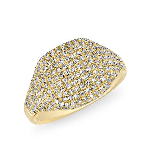 Anne Sisteron  Cushion Pinkie Ring