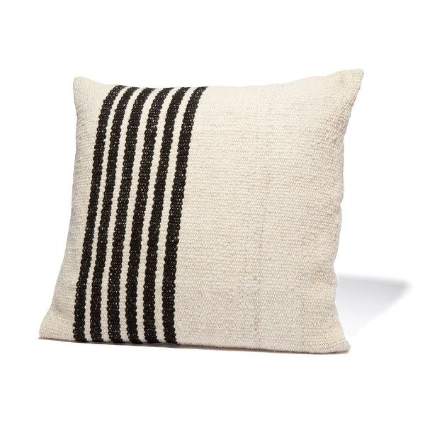 Sien + Co  Left Stripe Black Pillow
