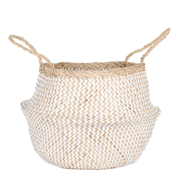 Connected Goods Woven Collapsible Rice Belly Basket - Zig Zag
