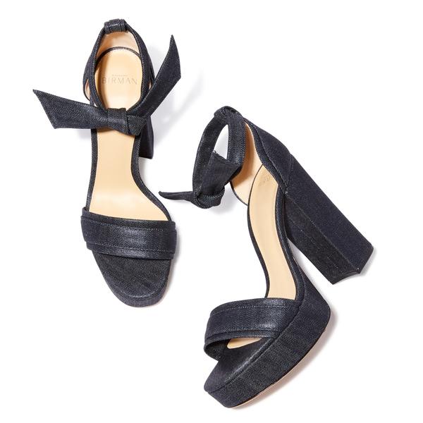 Alexandre Birman Aline Denim Heel Sandal
