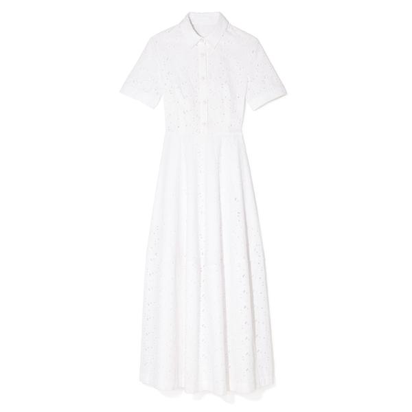 Co Poplin Flower Cut-Out Dress