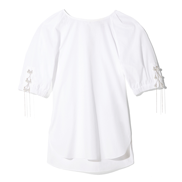 3.1 Phillip Lim Short-Sleeved Gathered Blouse