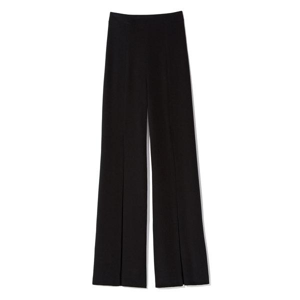 Cushnie et Ochs Silk Crepe High Waisted Front Slit Pants