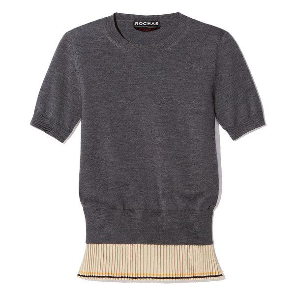 Rochas Short-Sleeve Shirt Sweater