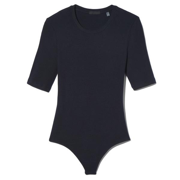 ATM Anthony Thomas Melillo Modal Rib Short Sleeve Bodysuit