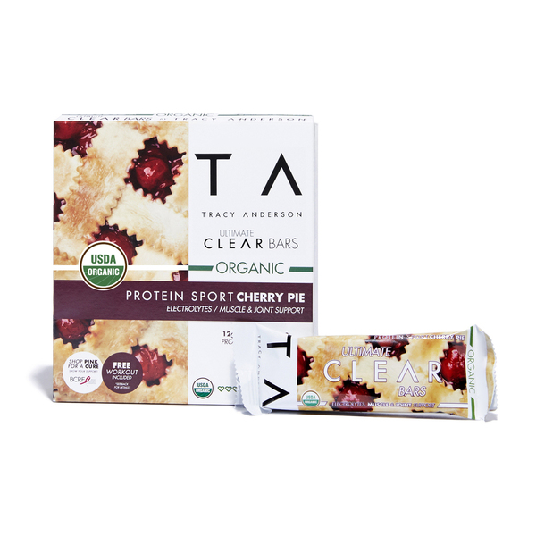 Tracy Anderson Ultimate Clear Bars - Organic Protein Sport Cherry Pie