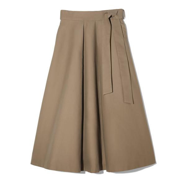 Co Compact Cotton Midi Skirt
