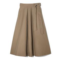 Compact Cotton Midi Skirt