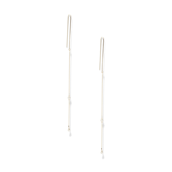 Grace Lee Whisper Mobile Linear Earrings With Diamonds