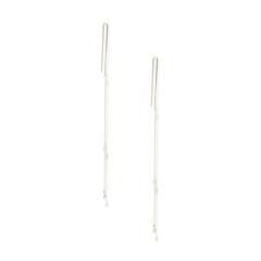 Whisper Mobile Linear Earrings With Diamonds
