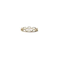Beaded Trapezoid Eternity Ring