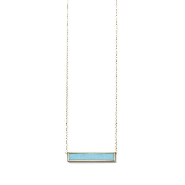 Jennifer Meyer Inlay Bar Necklace