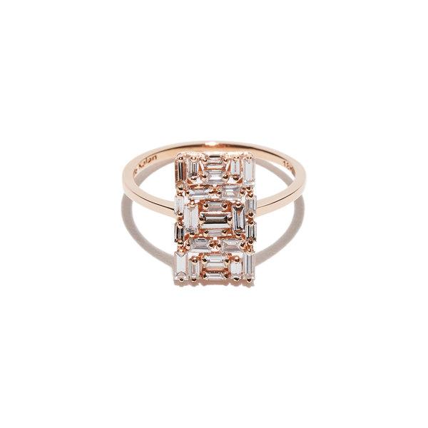 Suzanne Kalan Baguette Diamond Square Ring