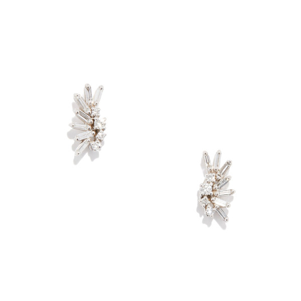 Suzanne Kalan White Diamond Crawler Earrings