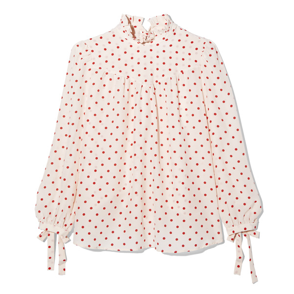 G. Label Ashley Silk Tie Blouse