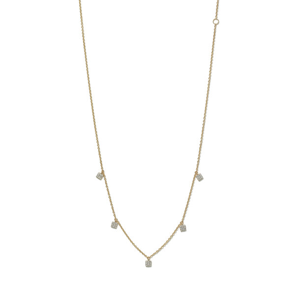 Eriness Diamond Mini Square Necklace