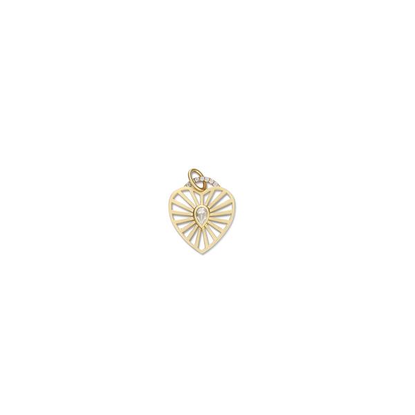 Michelle Fantaci Diamond Heart Charm